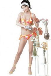 plavky Jane AQUILA dvojdílné 8A017 - zvětšit obrázek