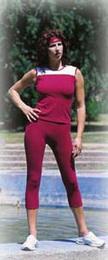 95002P 7/8 kalhoty Gina jednobarevné - zvětšit obrázek